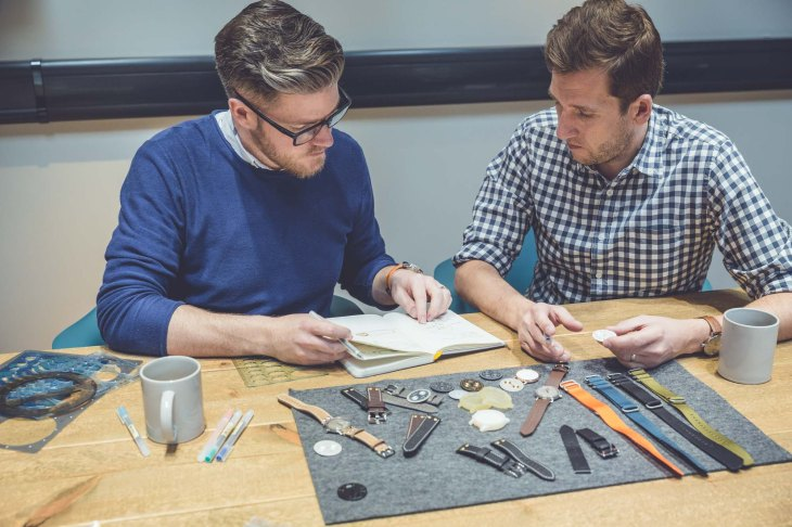Co-founders of Marloe Watch Company Gordon Fraser and Oliver Goffe right